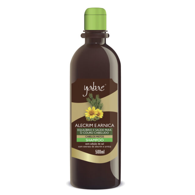 Shampoo Yabae Alecrim e Arnica 500ml – Vegan Friendly