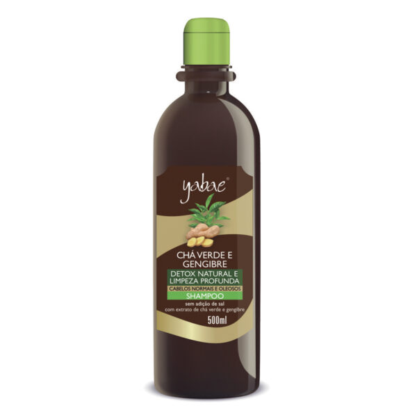 Shampoo Yabae Chá Verde com Gengibre 500ml - Vegan Friendly