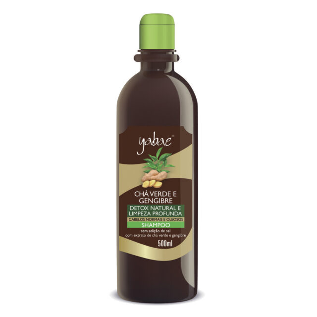 Shampoo Yabae Chá Verde com Gengibre 500ml - Vegan Friendly